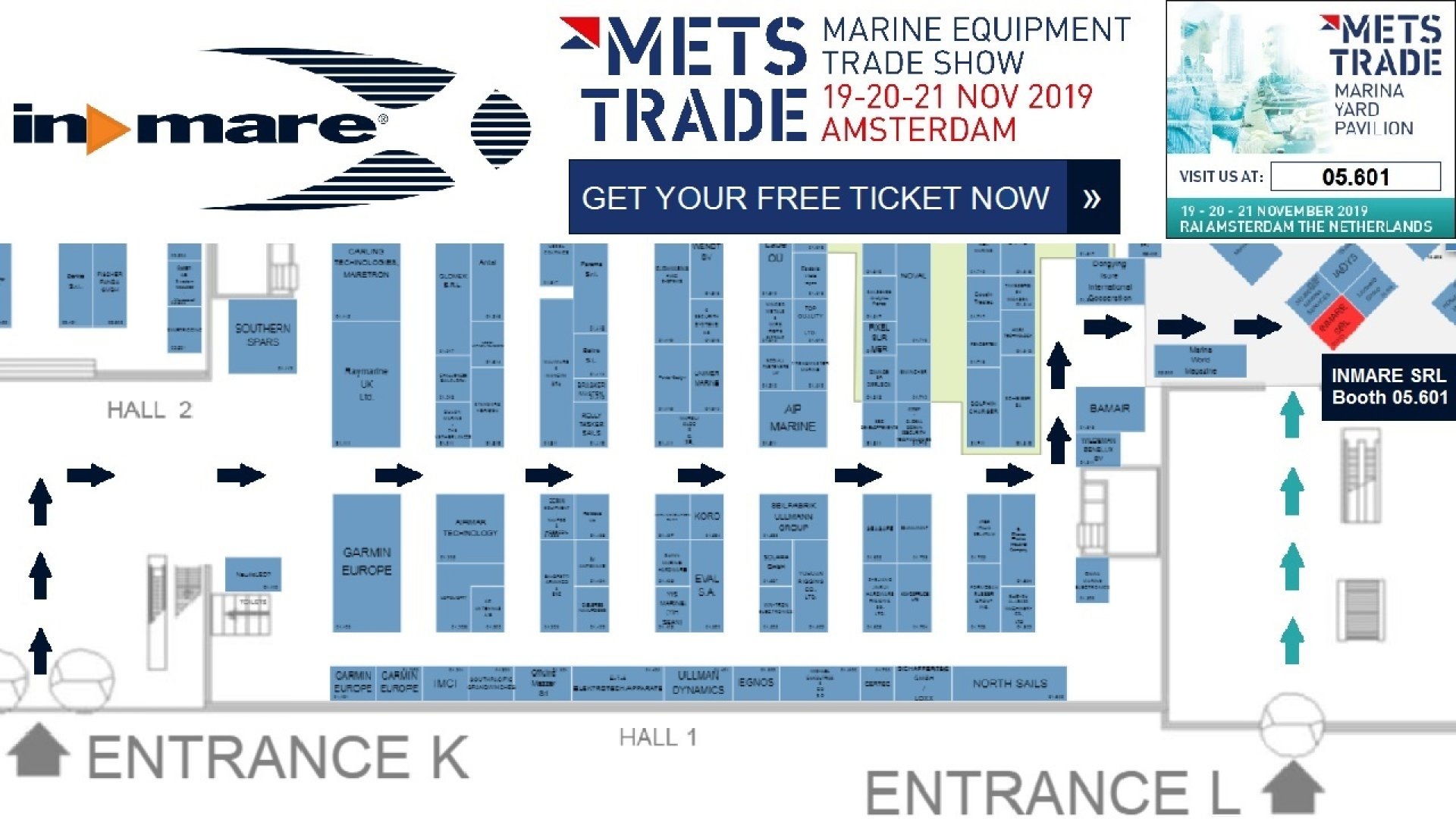 InMare invitation to METSTRADE 2019. Get your free ticket Now!